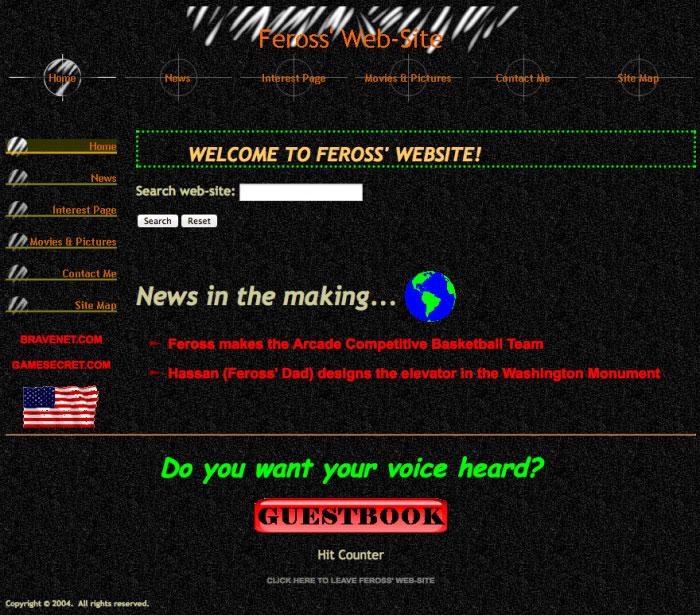 我的第一个网站
